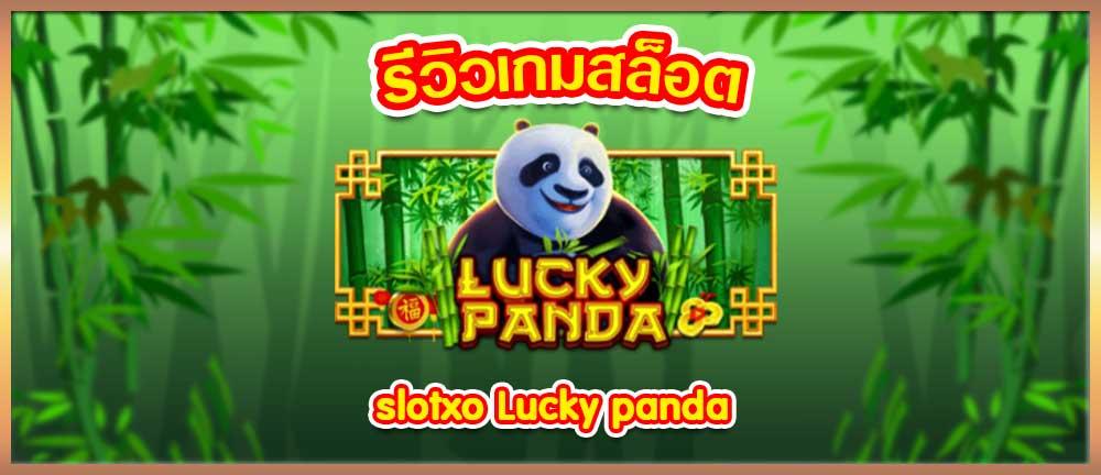 รีวิวเกมสล็อต lucky panda