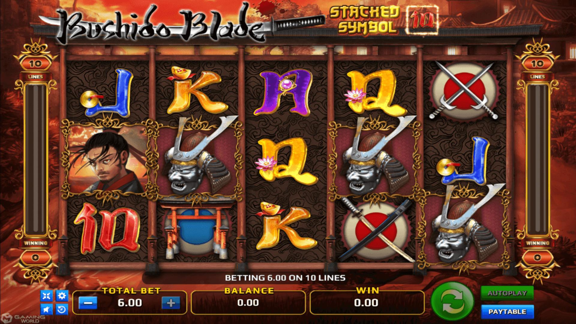 รีวิวเกมสล็อต Bushido blade