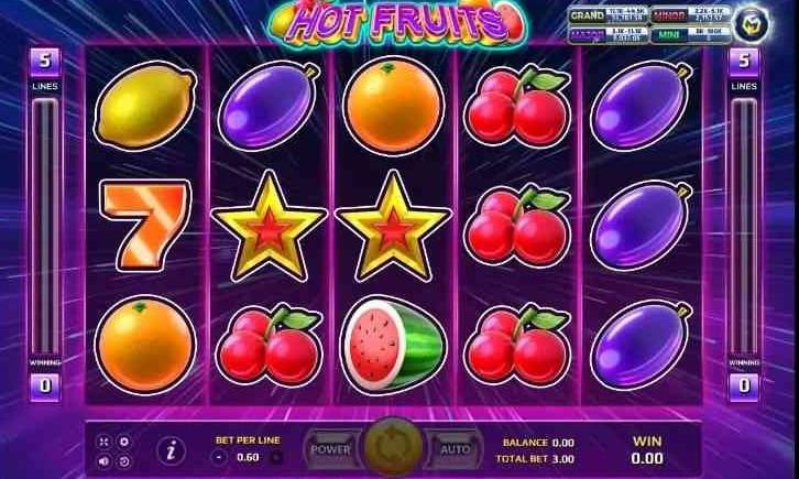 รีวิวเกมสล็อต-Hot Fruits