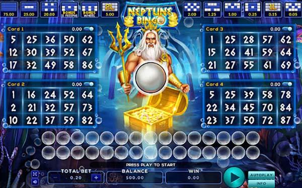 Neptune Treasure Bingo 2