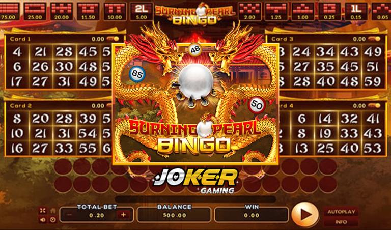 ทดลองเล่น Burning Pearl Bingo เกมสล็อตบิงโกไข่มุกมังกร 2021