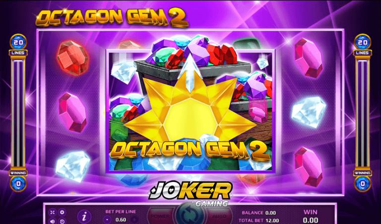 ทดลองเล่น Octagon Gem 2 เกมสล็อตอัญมณีหลากสี 2021
